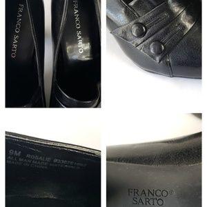 """Franco Sarto Shoes - Franco Sarto Rosalie Black Pumps Sz 9 Heel 3.25"""""""